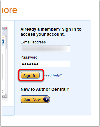 1-Sign-in-to-Author-Central
